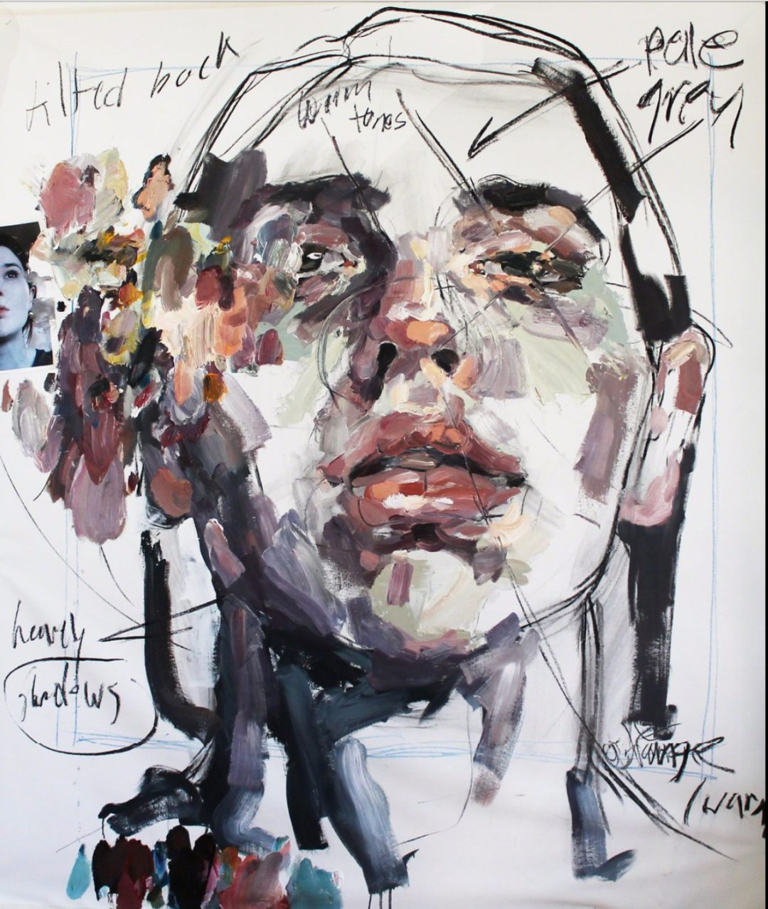 Elly Smallwood Self Portrait with Notations