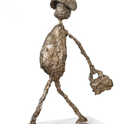 NLEHMANN Walking Man with suitcase 2 BRONZE 2019